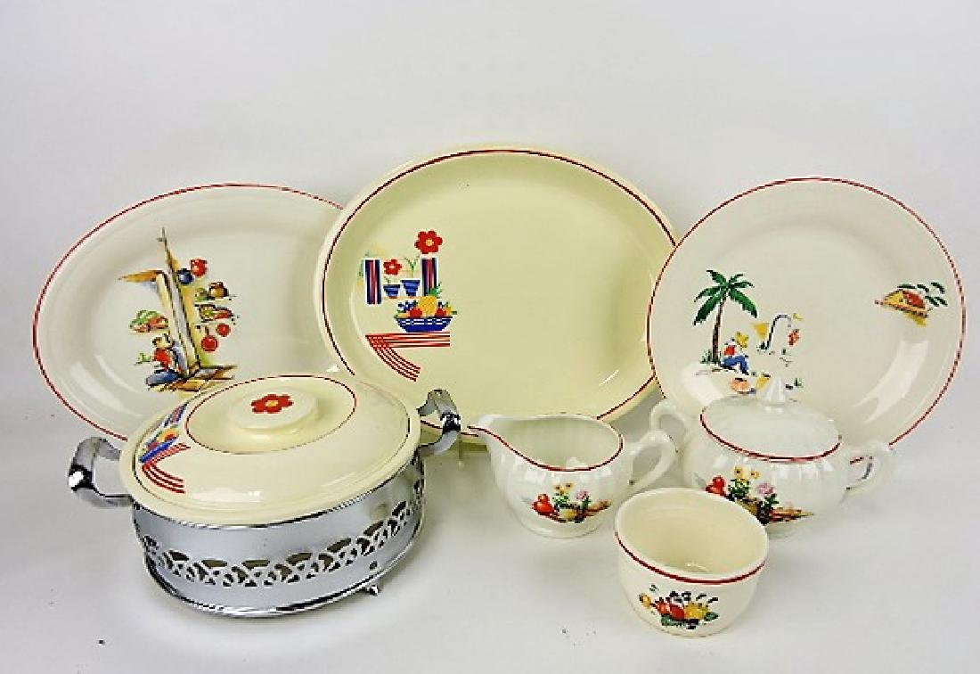 Fiesta HLC decaled lot of 7 pieces