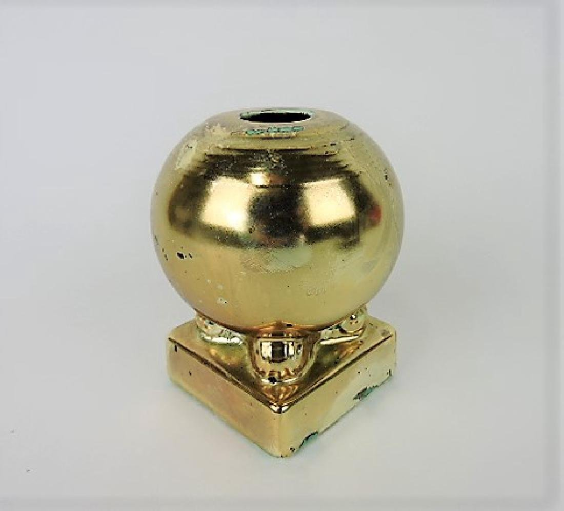 Fiesta bulb candle holder, single, RARE, gold
