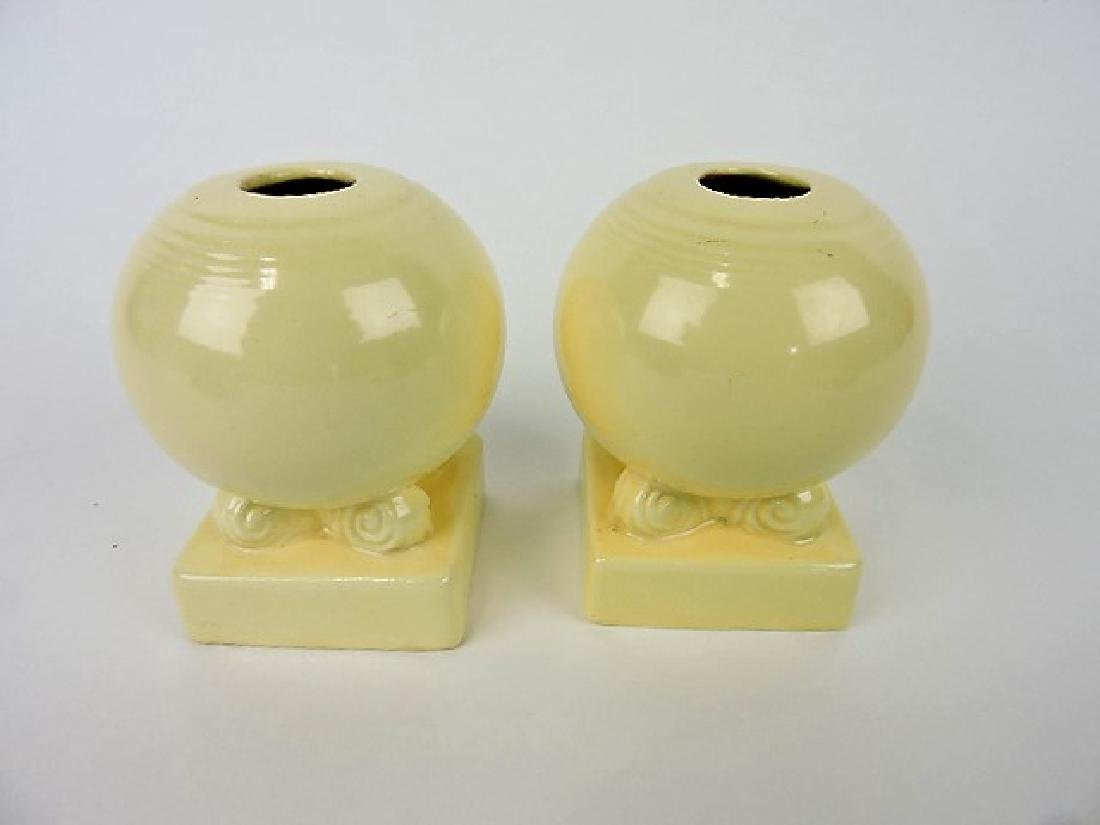 Fiesta bulb candle holder, pair, ivory