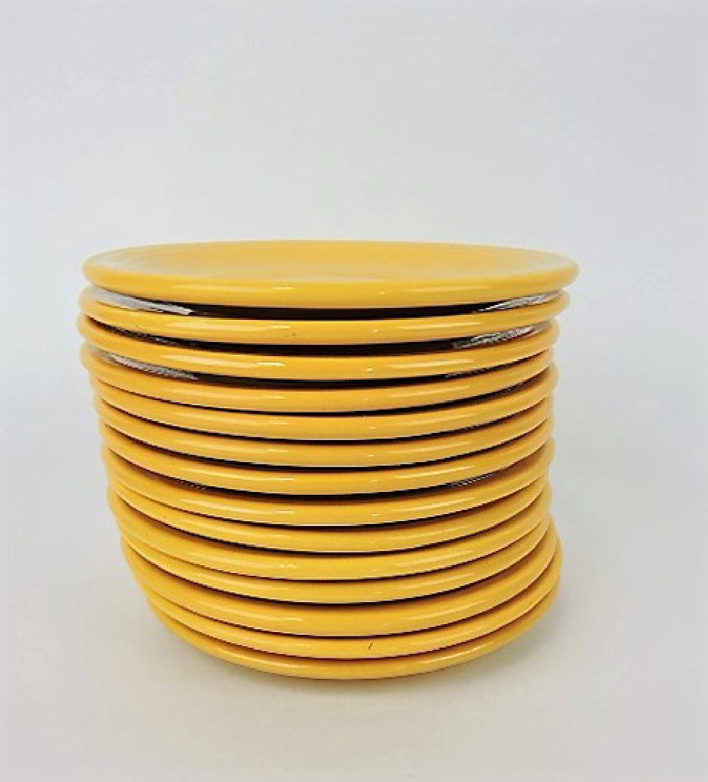 "Fiesta 6"" plate group, 14 yellow"