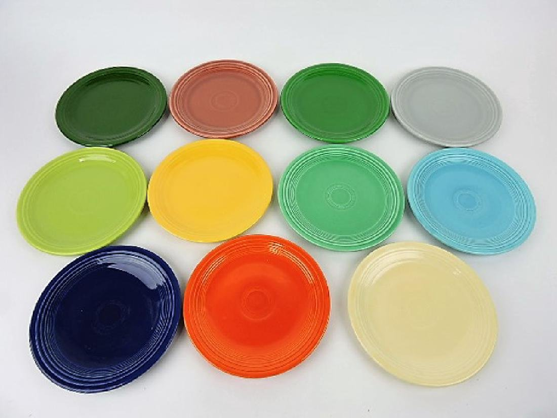 """Fiesta 7"""" plate group, all 11 colors"""