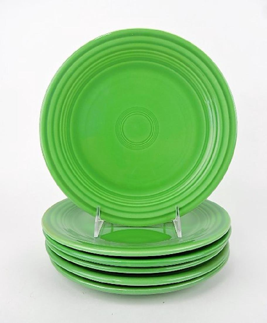 "Fiesta 9"" plate group, 6 - medium green"