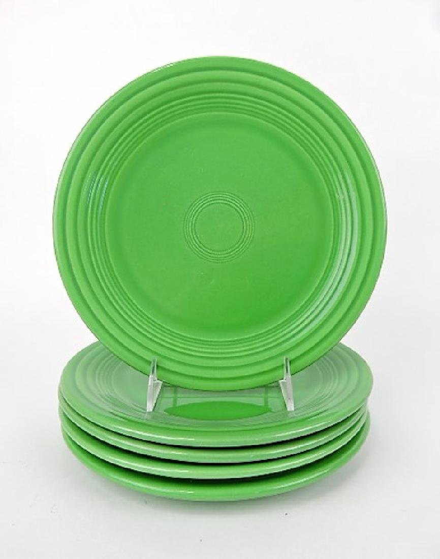 "Fiesta 9"" plate group, 5 medium green"