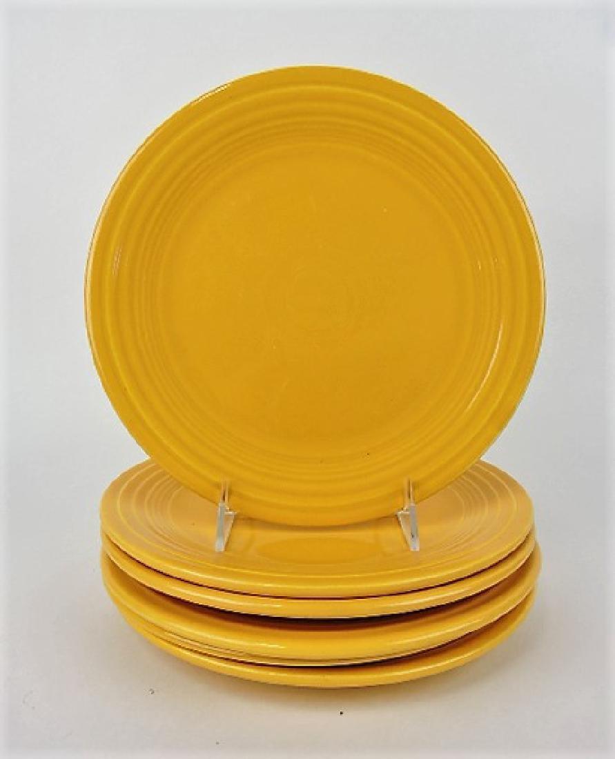 "Fiesta 9"" plate group, 6 yellow"