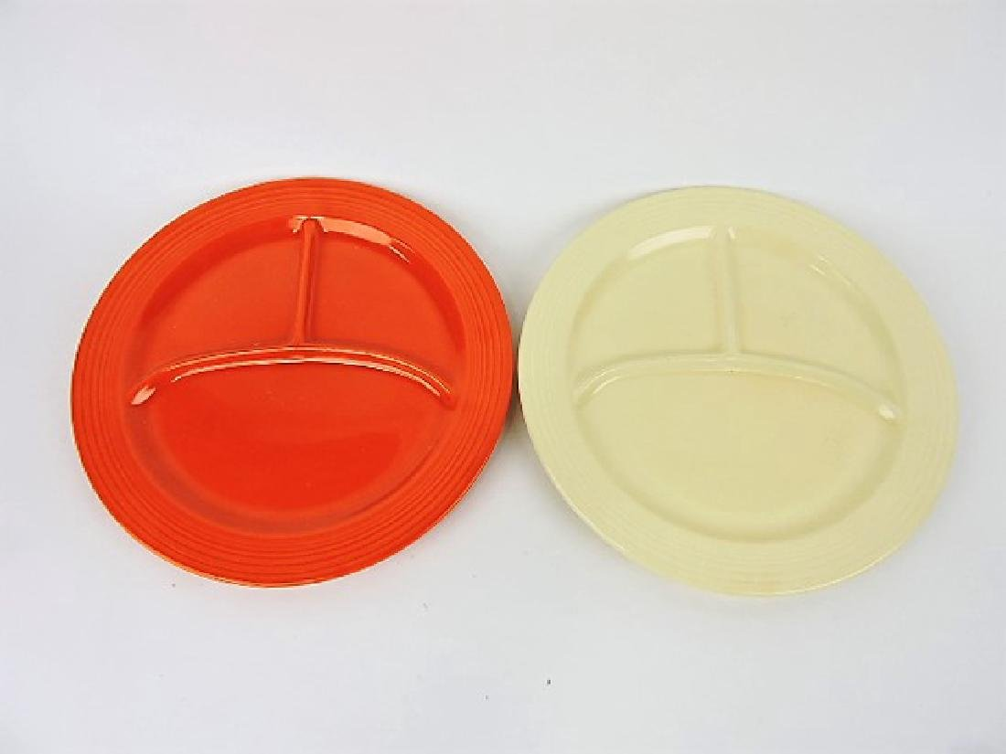 """Fiesta 10 1/2"""" compartment plate, red & ivory"""