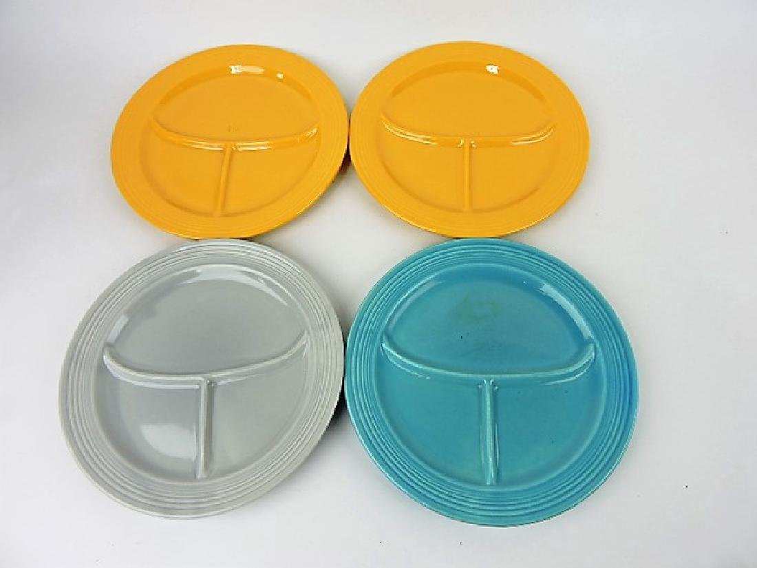 "Fiesta 10 1/2"" compartment plate, 4 mixed"