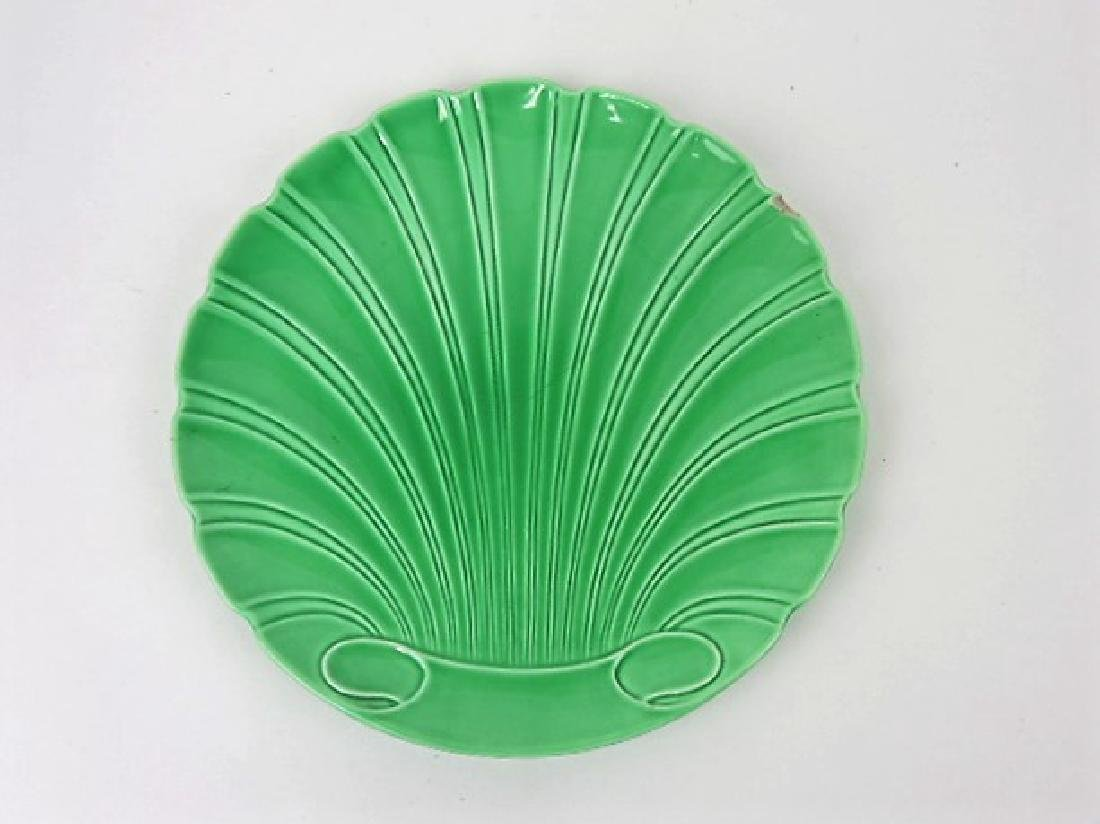 "Fiesta rare green shell shape 9 1/2"" plate,"