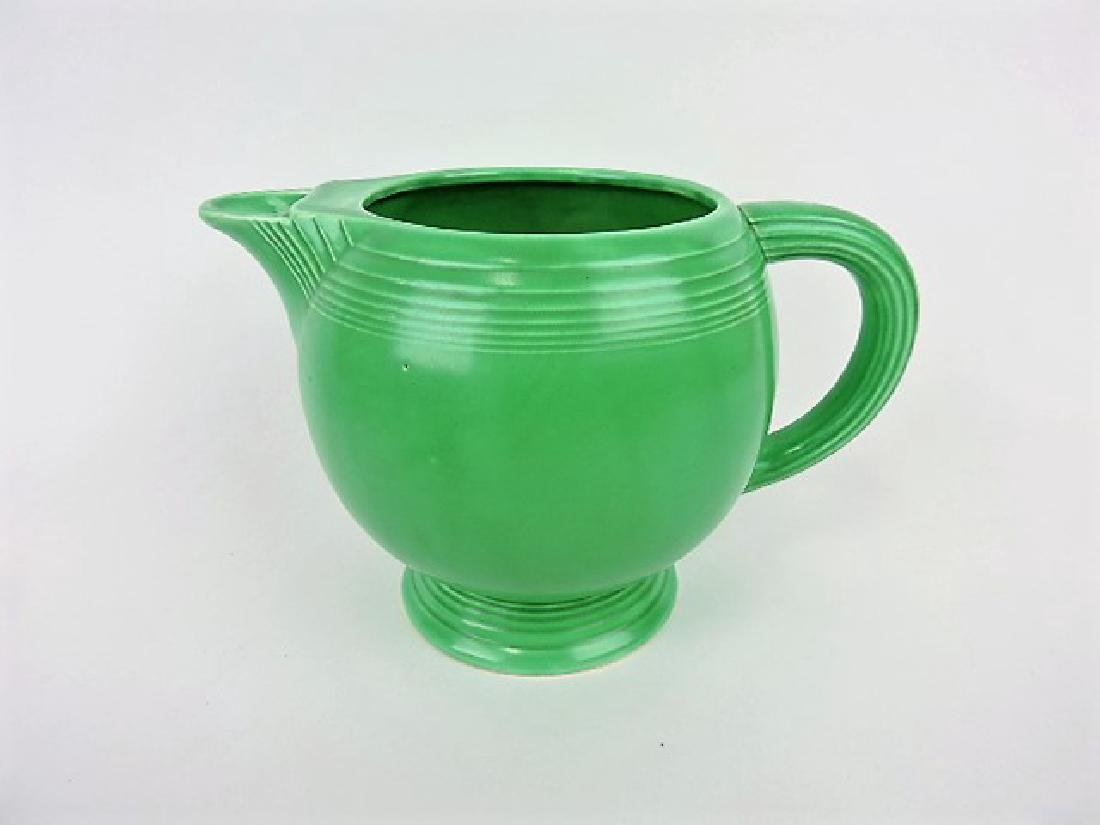 Fiesta ice lip pitcher, green