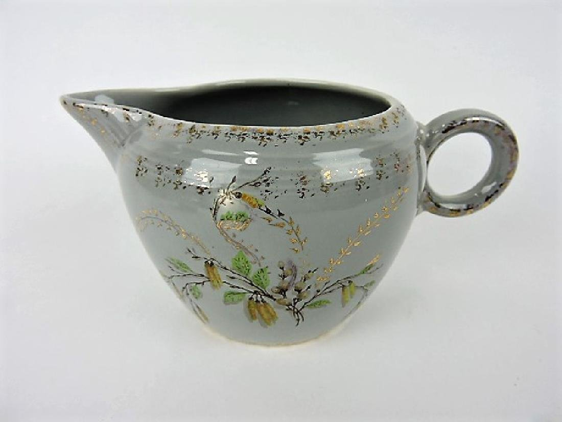 Fiesta two pint jug, RARE gray with floral