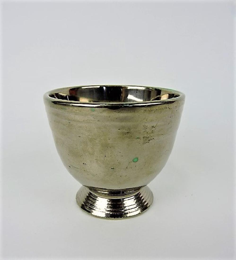 Fiesta egg cup, RARE silver lustre over green