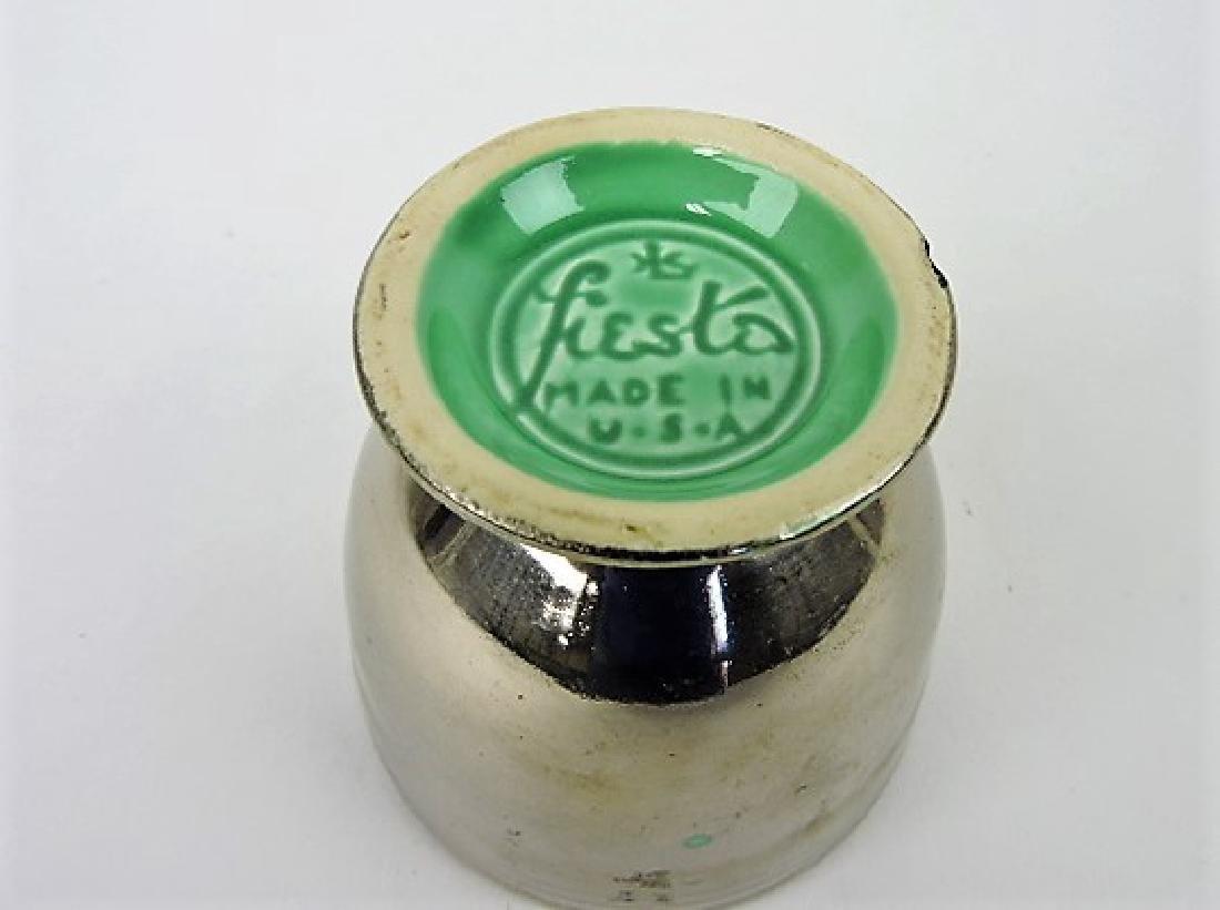 Fiesta egg cup, RARE silver lustre over green - 2