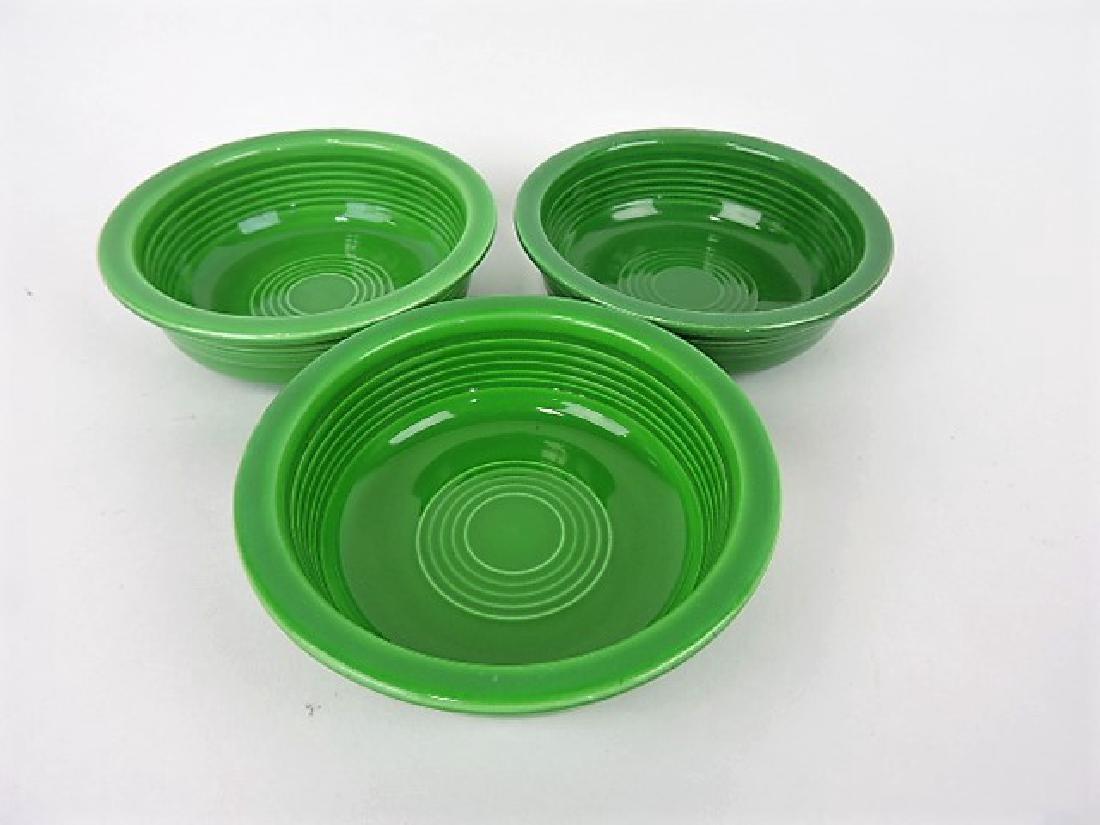 "Fiesta 5 1/2"" fruit bowl group, 3 medium green"