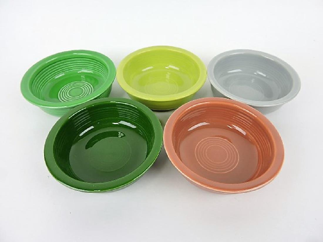 "Fiesta 5 1/2"" fruit bowl group, 5- 50's colors"