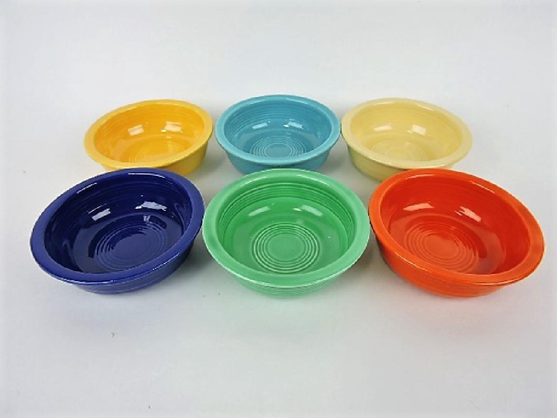 """Fiesta 4 3/4"""" fruit bowl group, original 6 colors"""