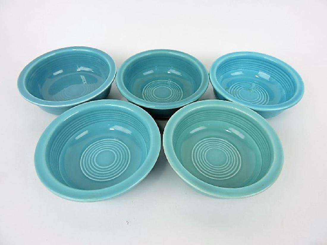 "Fiesta 4 3/4"" fruit bowl group, 5 turquoise"