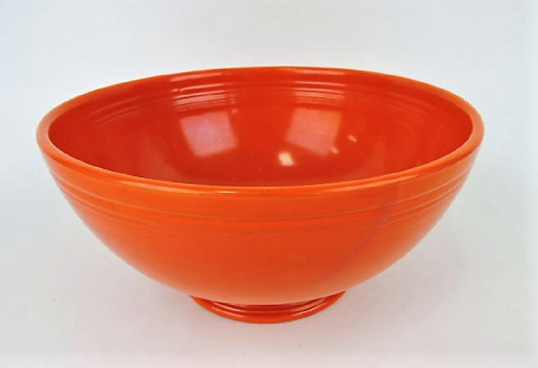 Fiesta footed salad bowl, red, wear