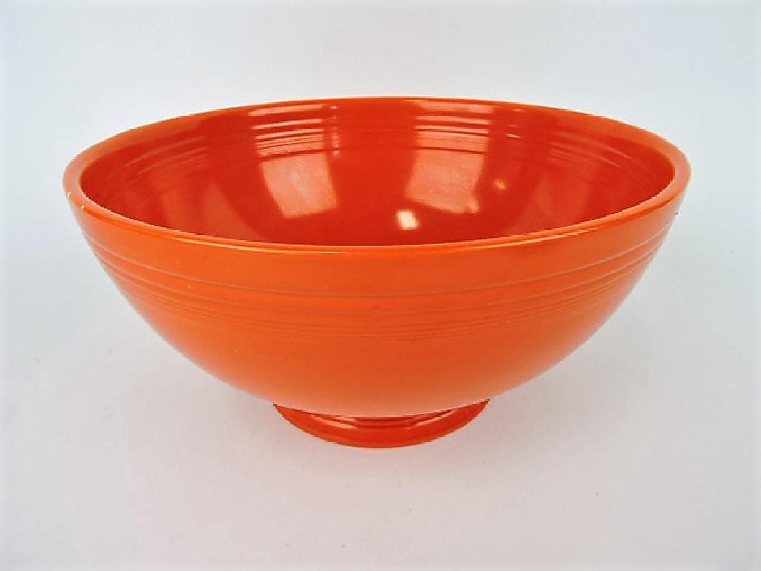 Fiesta footed salad bowl, red, nicks