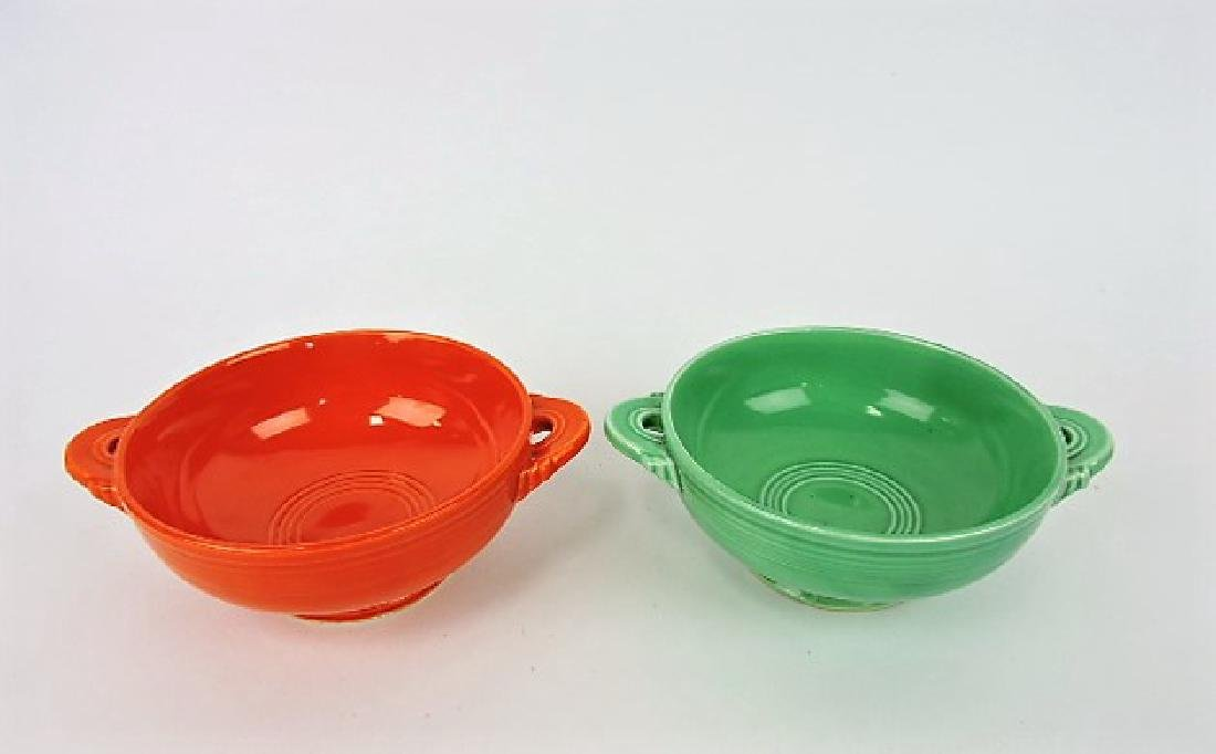 Fiesta cream soup group, red & green