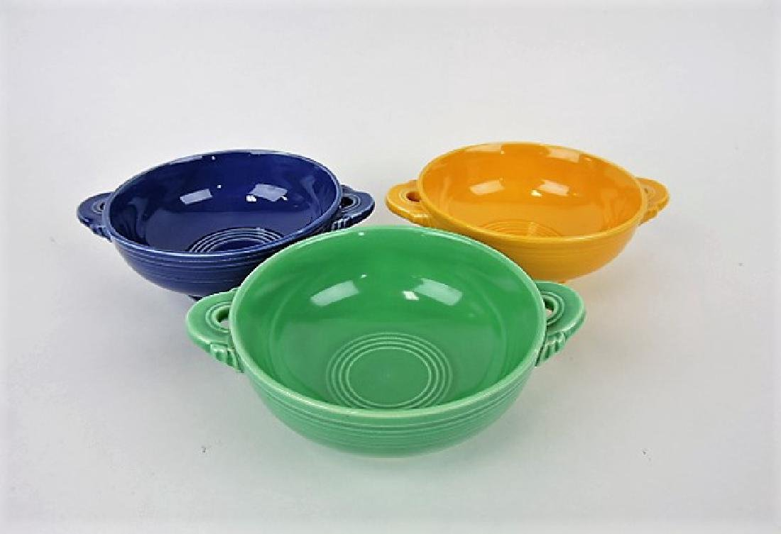 Fiesta cream soup group, 3 mixed colors