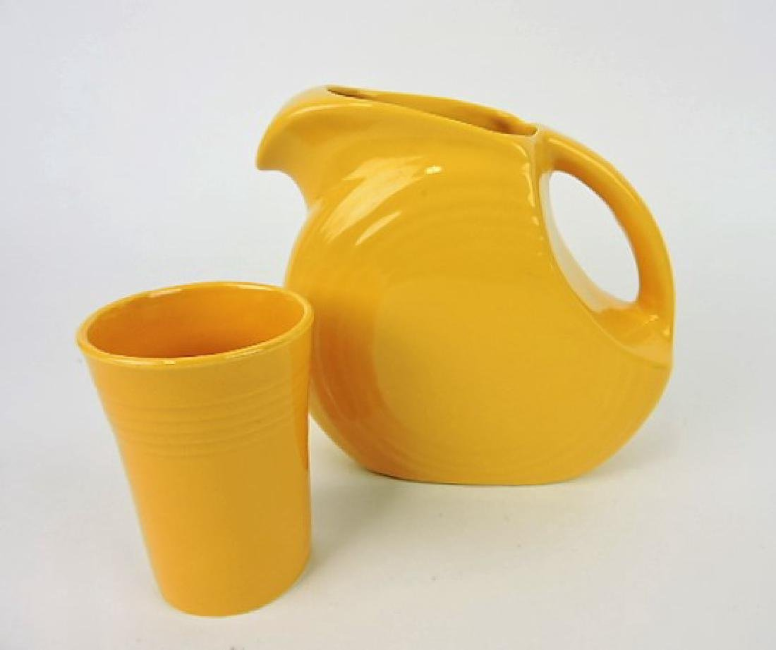 Fiesta disk juice pitcher, yellow and yellow