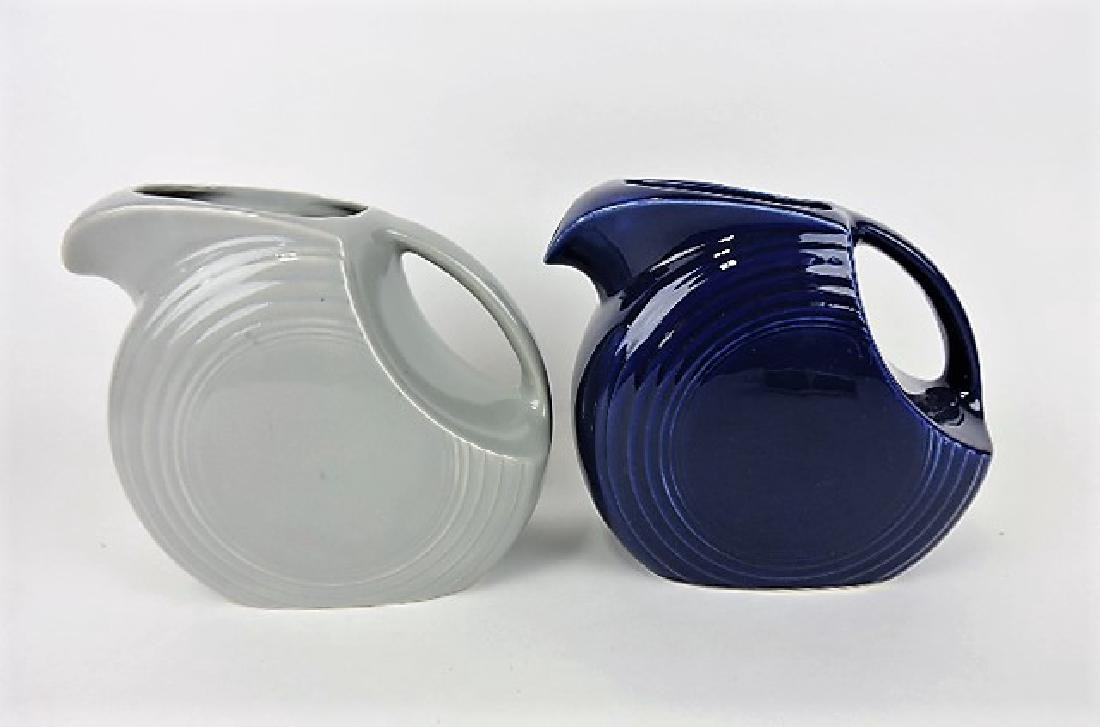 Fiesta disk water pitcher group- gray and cobalt,