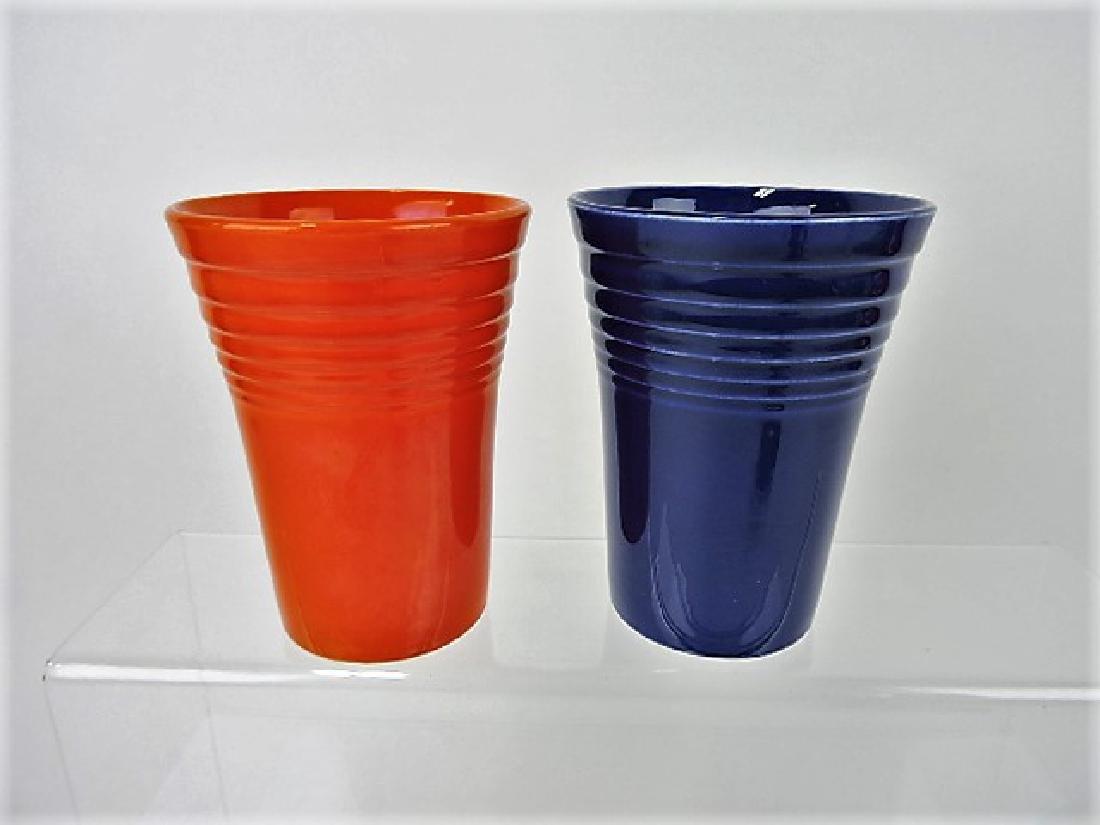 Fiesta water tumbler group- red & cobalt