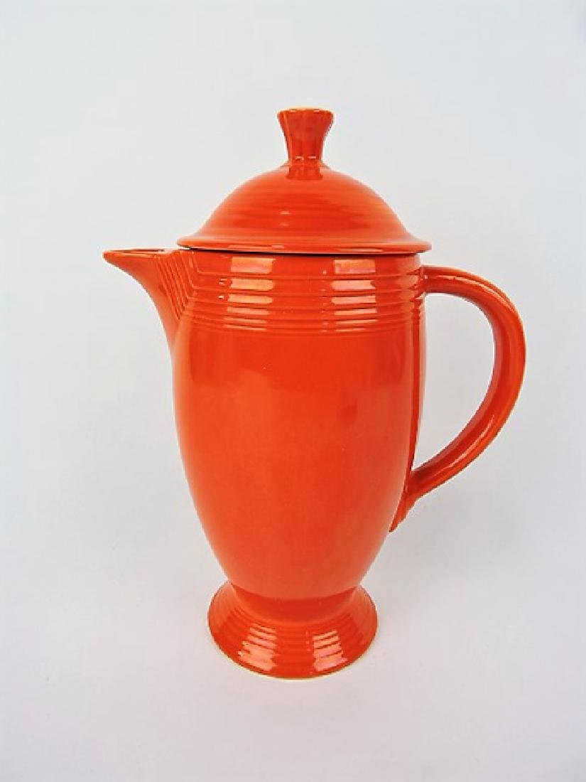 Fiesta coffee pot, red