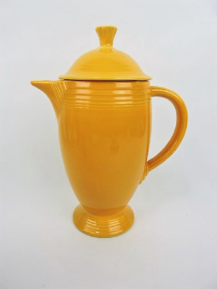 Fiesta coffee pot, yellow