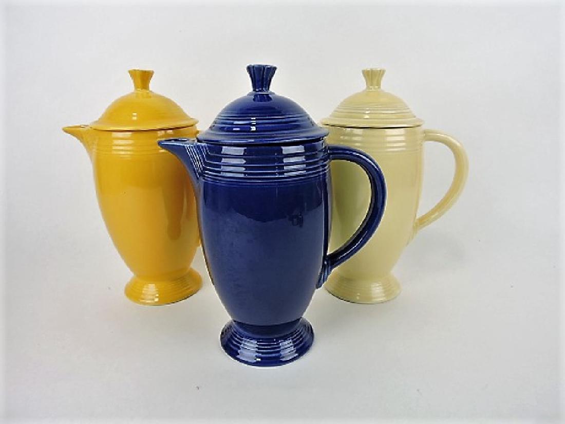 Fiesta coffee pot group- cobalt, ivory & yellow,