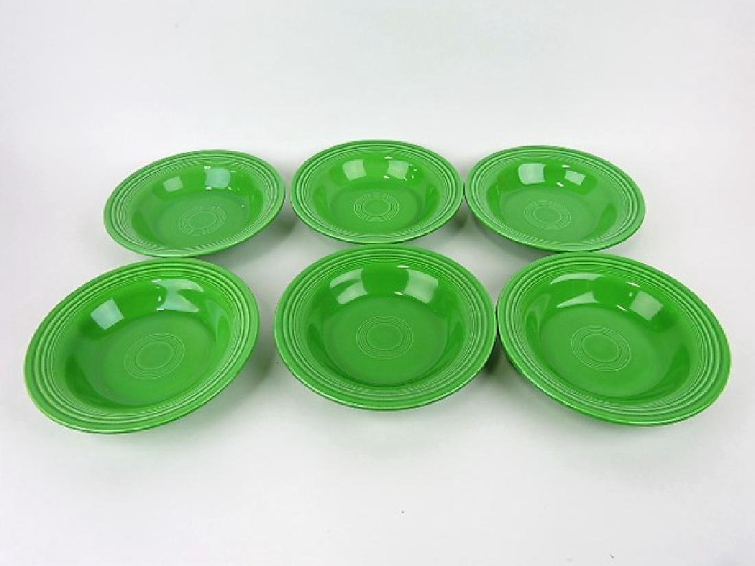 Fiesta deep plate group, 6 medium green