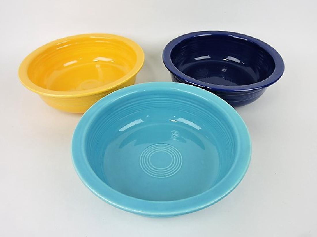 Fiesta 9 1/2 nappy bowl group- cobalt, turquoise