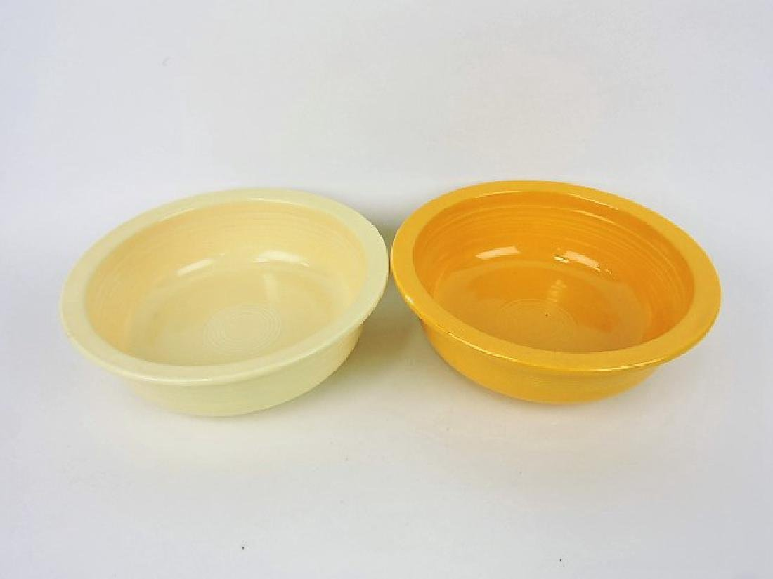 Fiesta 9 1/2 nappy bowl group, ivory & yellow