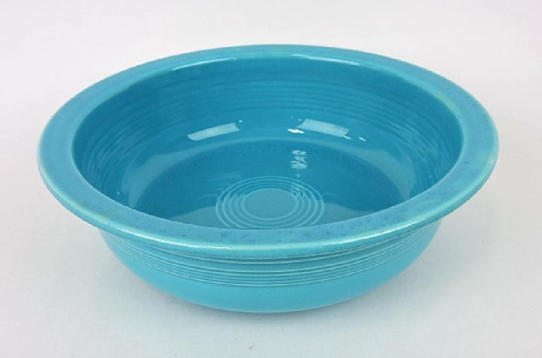 Fiesta 8 1/2 nappy bowl, turquoise