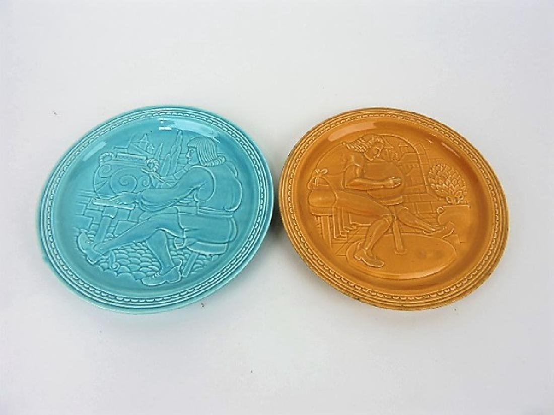 Fiesta World's Fair plates-  turquoise and mocha