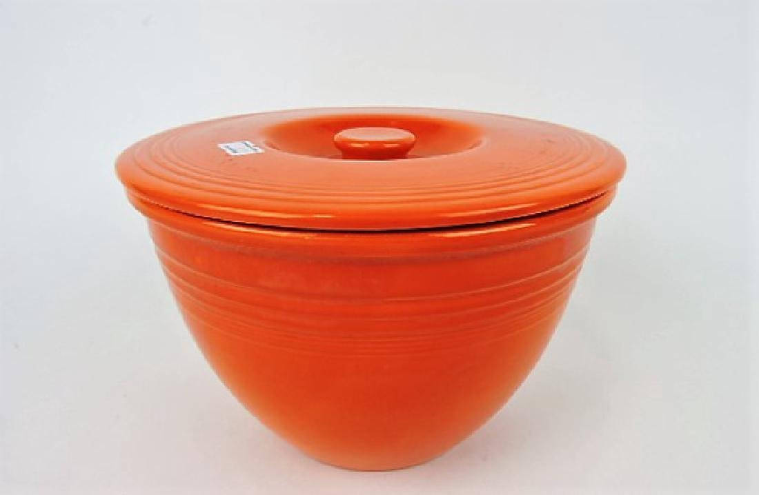 Fiesta #4 mixing bowl lid with mixing bowl, minor