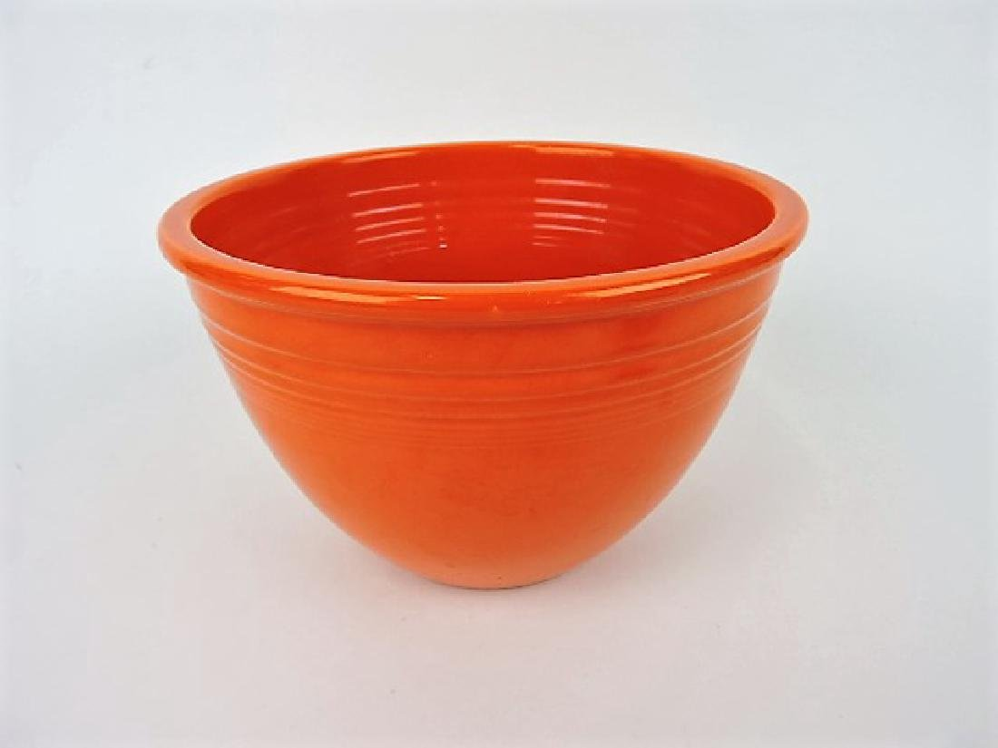 Fiesta #5 mixing bowl, red, minor rim nick
