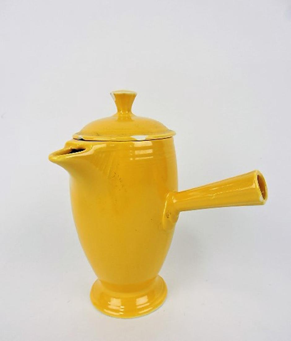 Fiesta demitasse pot, yellow, chips