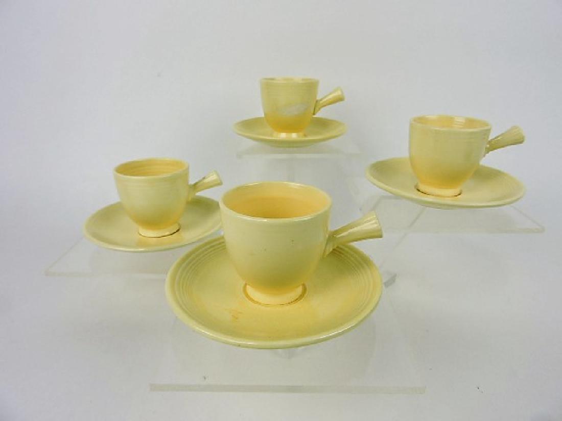Fiesta demitasse cup & saucer group, 4 ivory