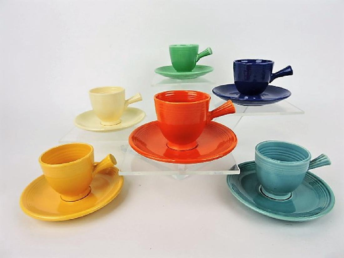 Fiesta demitasse cup & saucer group, all 6