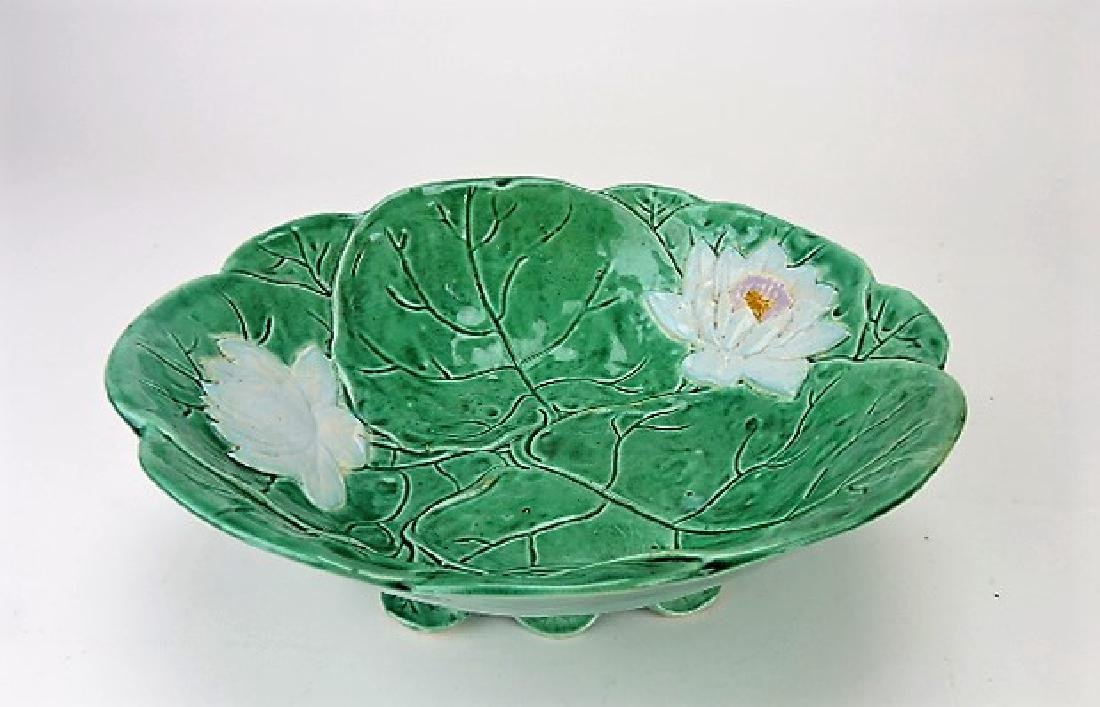 """Holdcroft pond lily footed bowl, 11"""""""