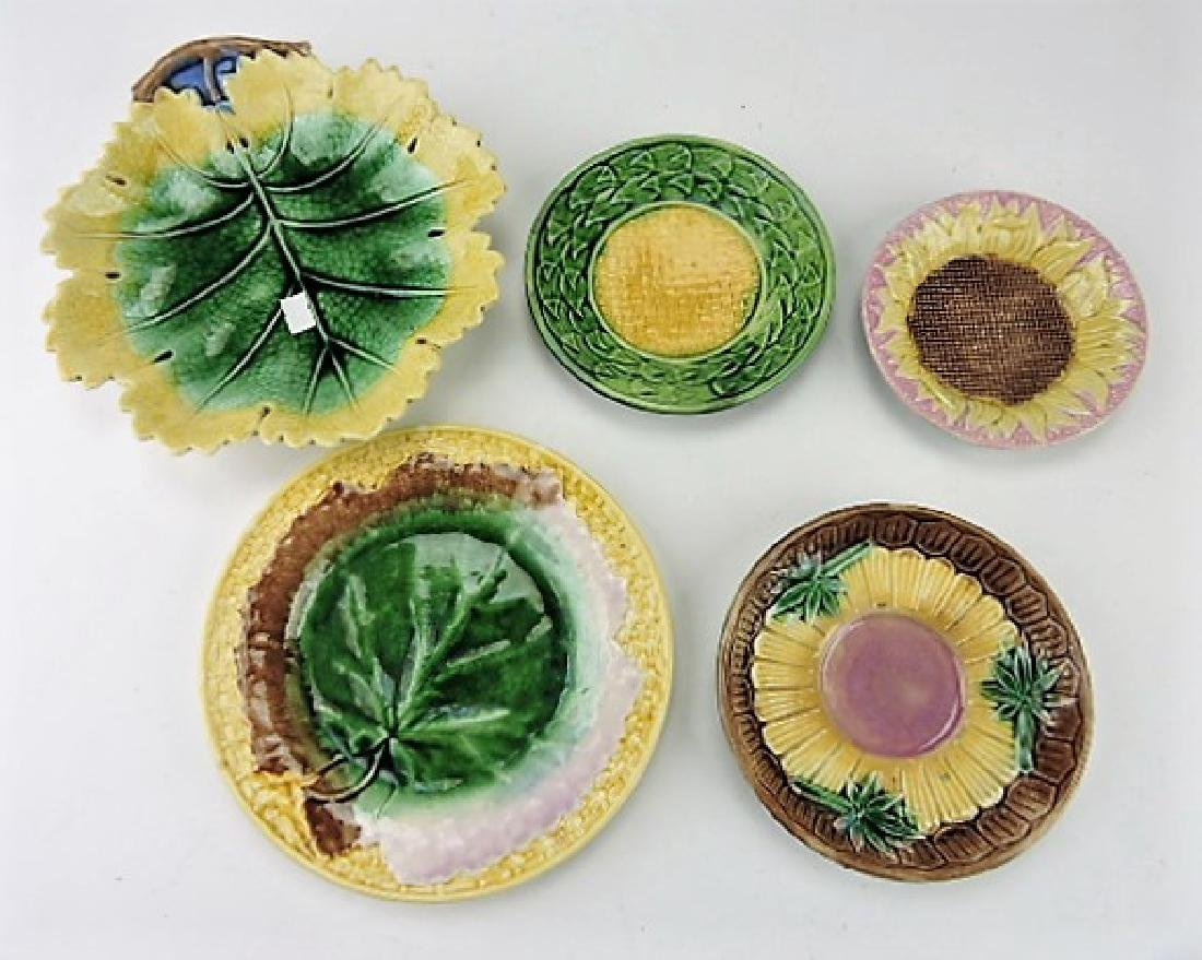 Etruscan majolica lot of 5 plates and trays