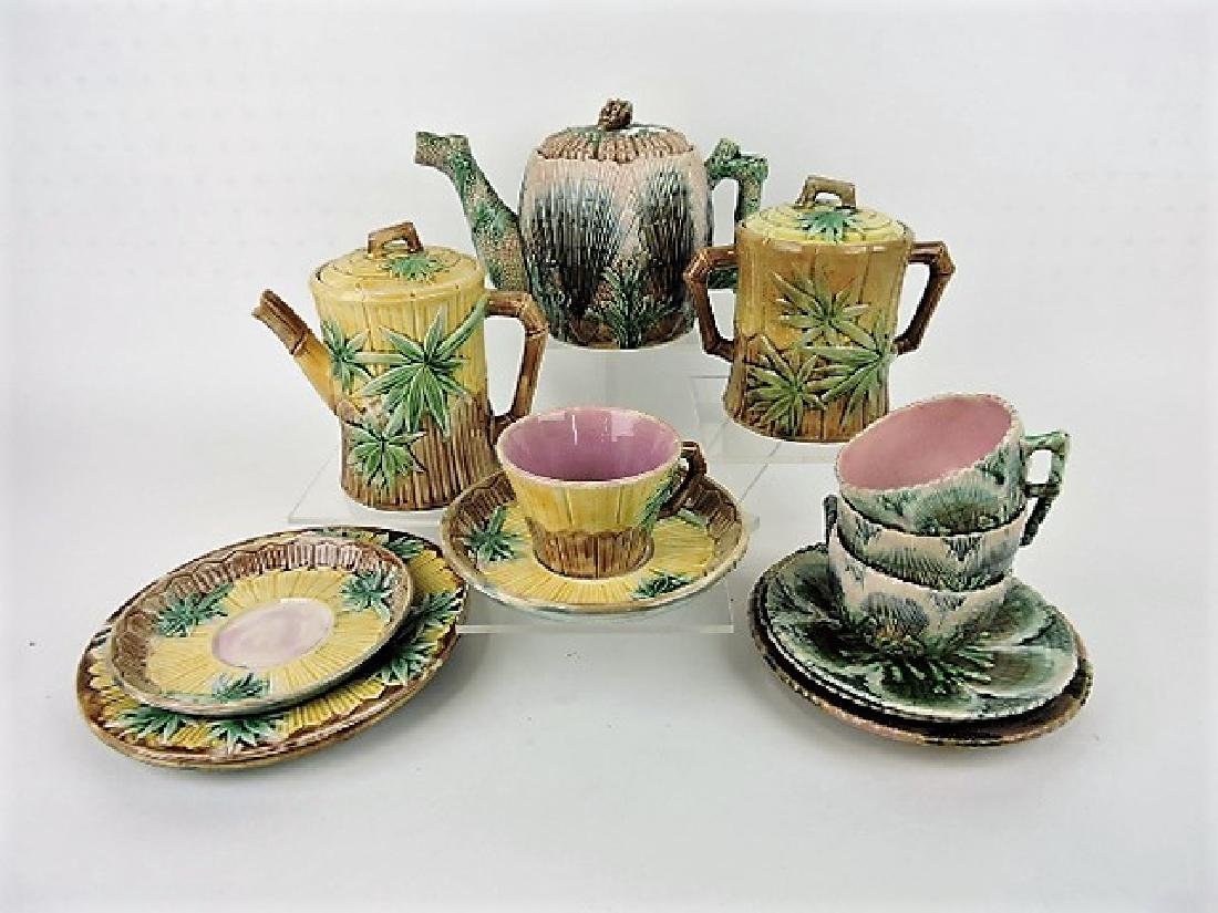 Etruscan majolica lot of 10 shell and seaweed and