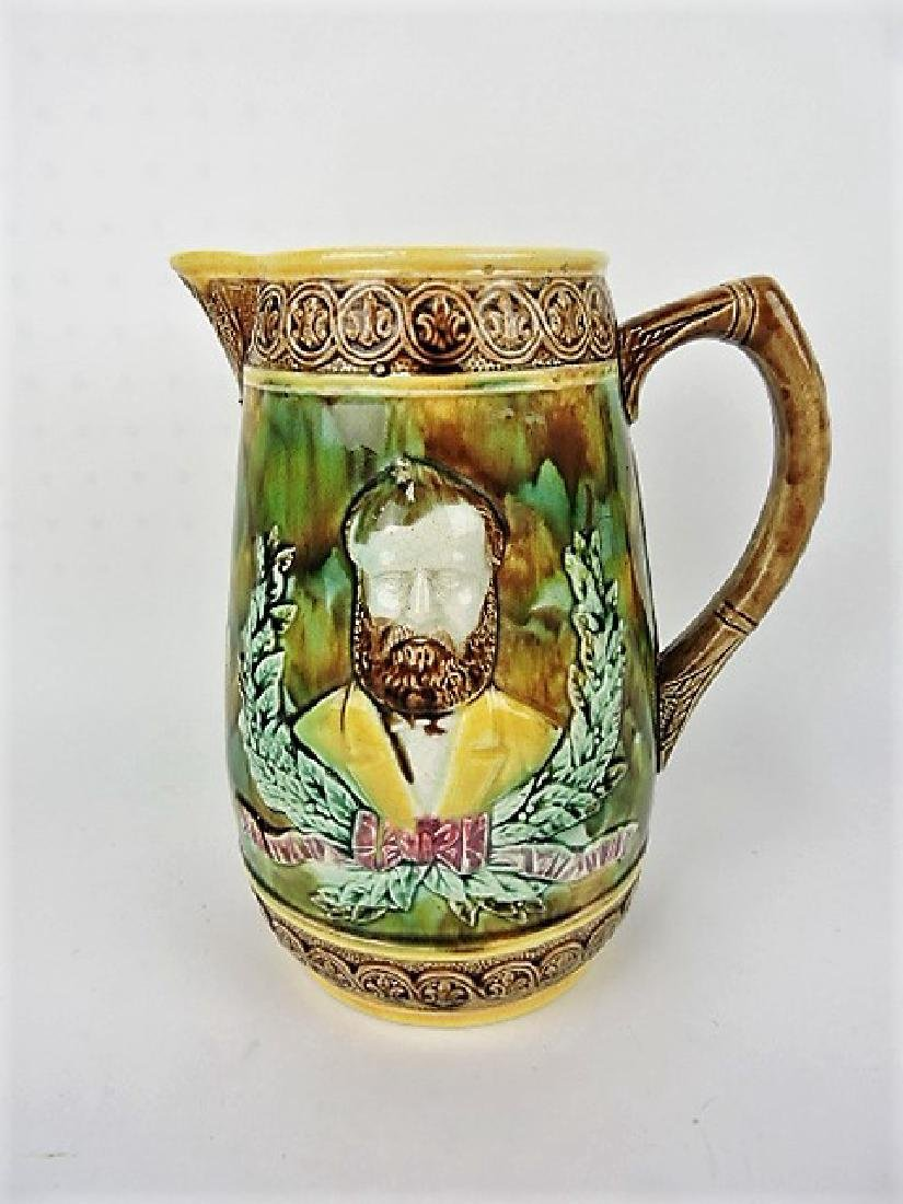 Majolica Grant pitcher 10""