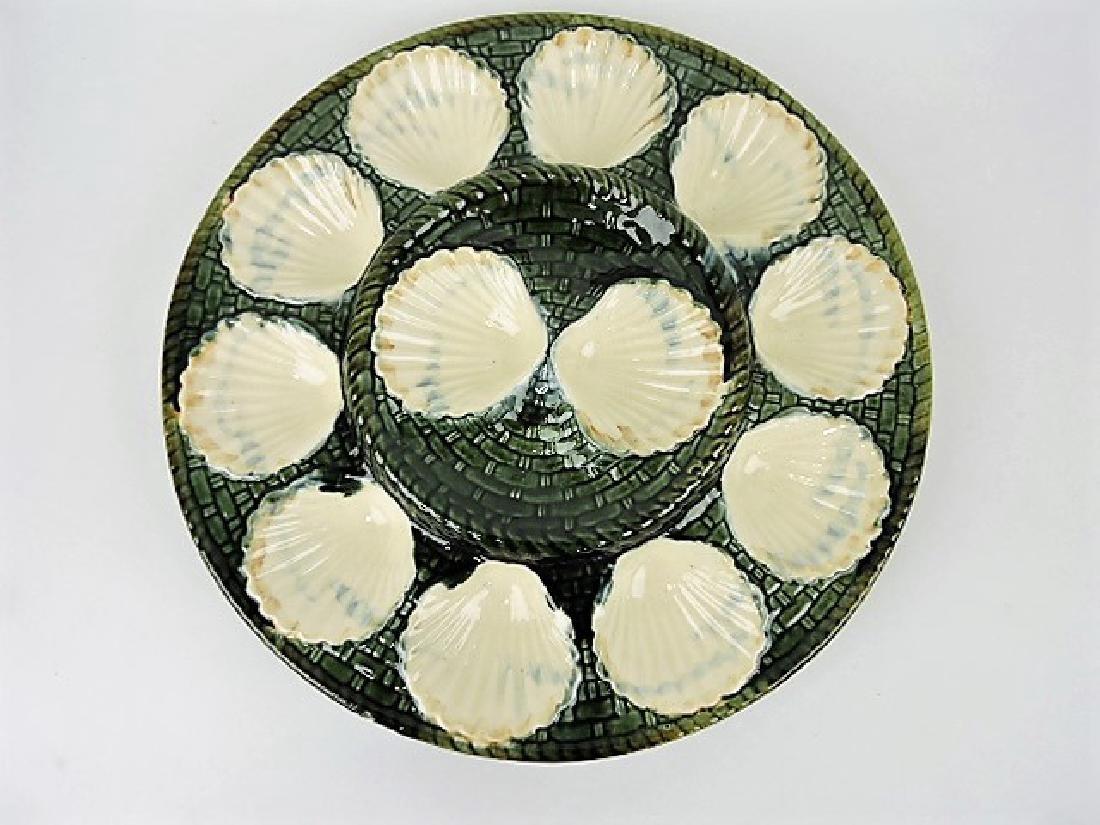 """Longchamp majolica 13"""" oyster platter"""