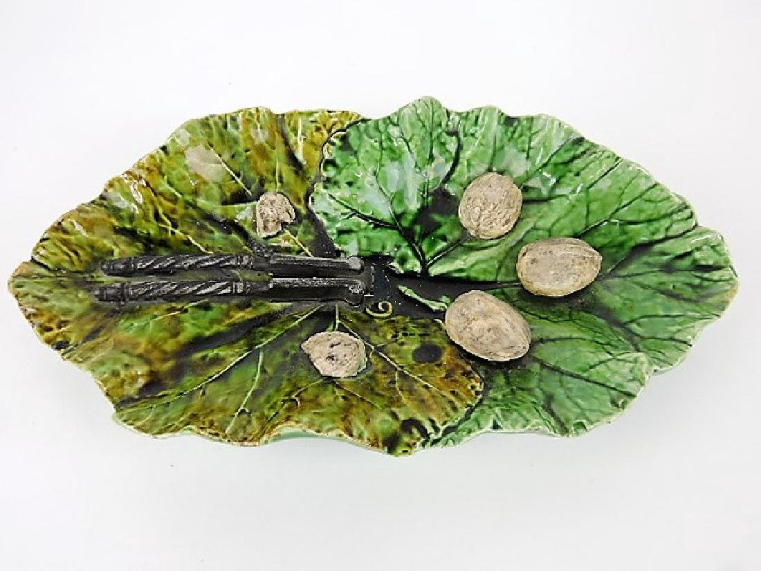 Bretby (attributed) leaf tray with nutcracker and
