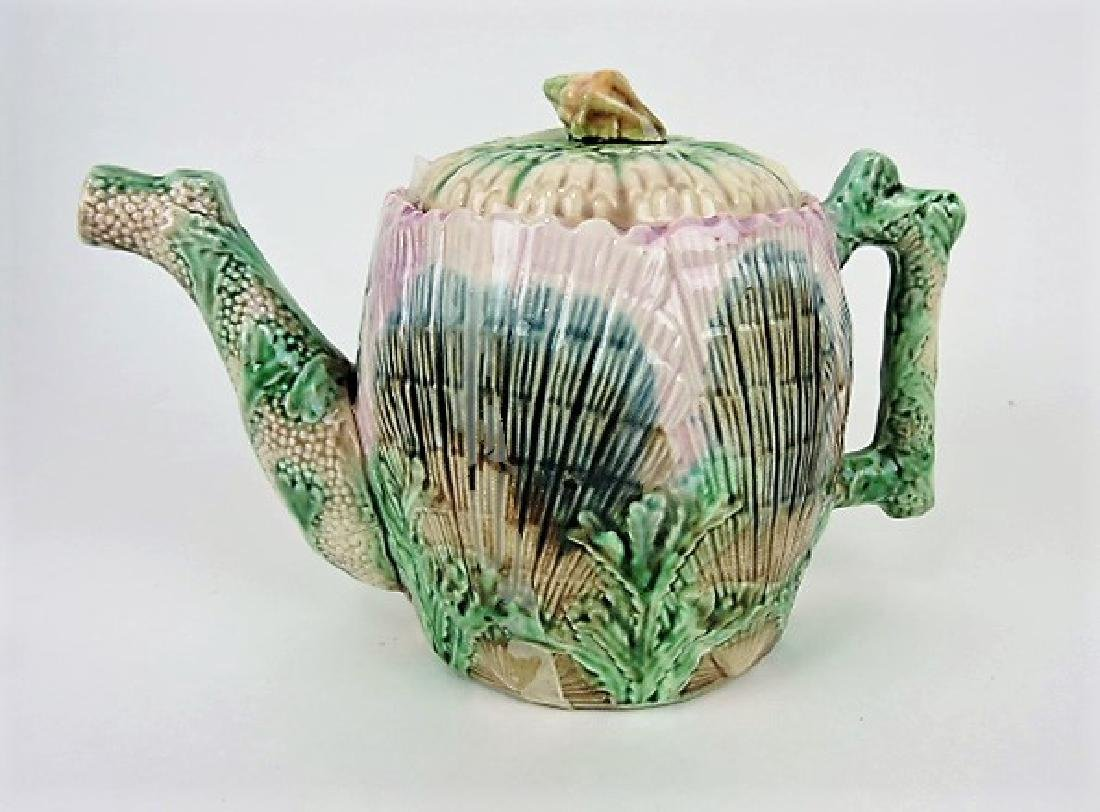 Etruscan shell and seaweed large teapot with