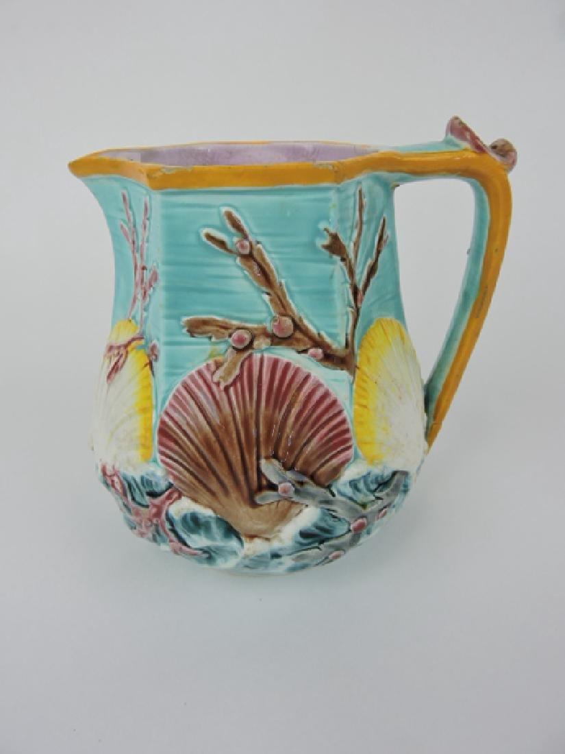 Wedgewood majolica turquoise ocean jug, minor