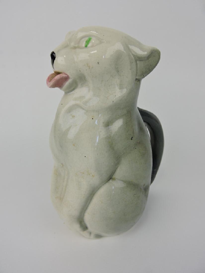 Sarreguemines majolica figural cat pitcher, minor