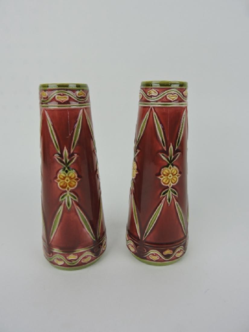"""Minton Secessionist pair of vases, 7 1/4"""""""