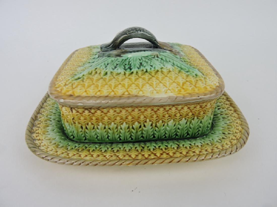 Majolica pineapple sardine box